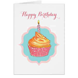 Cupcake Personalized Birthday Card