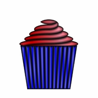 Cupcake Photo Sculpture Keychain