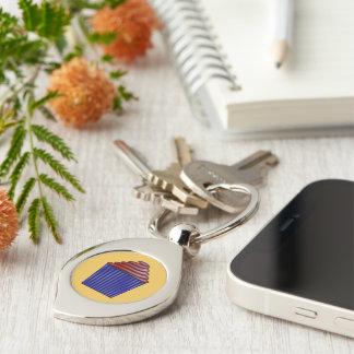Cupcake Silver-Colored Swirl Metal Keychain