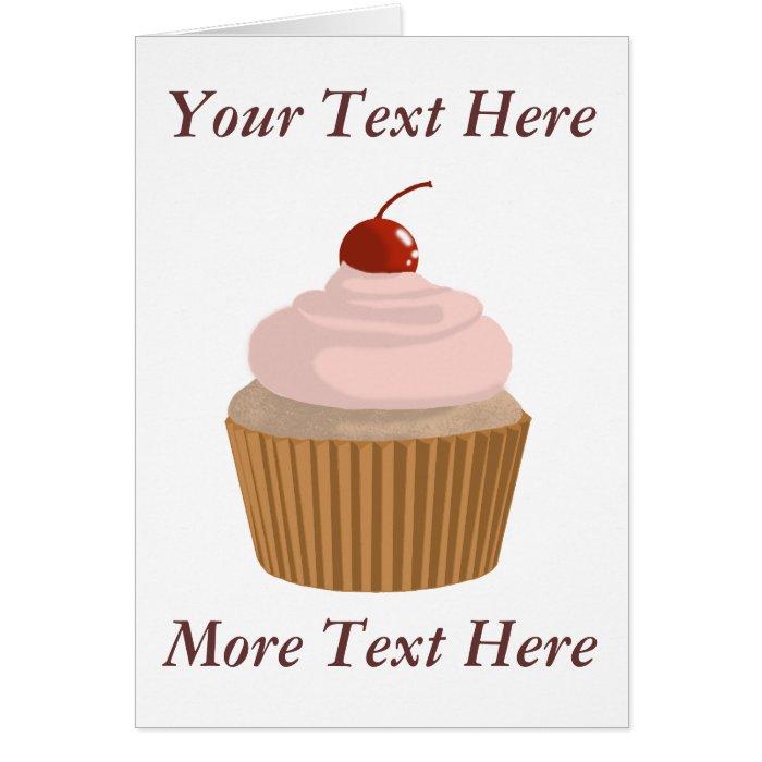 Cupcake-Pink and Brown Card