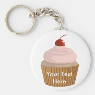 Cupcake-Pink and Brown Keychains