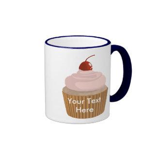 Cupcake-Pink and Brown Coffee Mugs