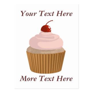 Cupcake-Pink and Brown Postcard