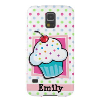 Cupcake, Pink, Blue, Green, Polka Dots Case For Galaxy S5