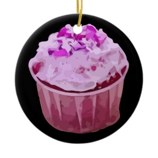 Cupcake Pink Ornament