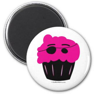 Cupcake Pirate 2 Inch Round Magnet