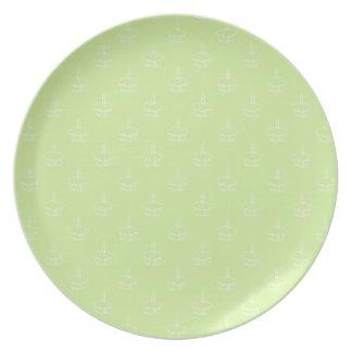 Cupcake Plate- Green Melamine Plate