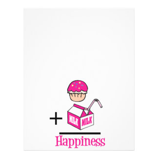 Cupcake Plus Milk Happiness Flyers