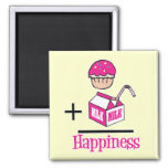 Cupcake Plus Milk Happiness Magnet