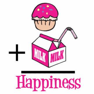 Cupcake Plus Milk Happiness Standing Photo Sculpture