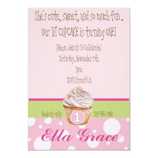 Cupcake & Polka Dots - Green Card