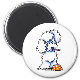 Cupcake Poodle 2 Inch Round Magnet