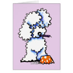 Cupcake Poodle Happy Bithday Personalized Greeting Card