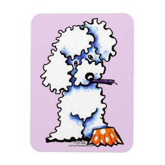 Cupcake Poodle Rectangular Photo Magnet