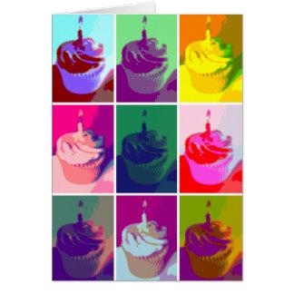 Cupcake Pop Art Colorful Card