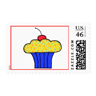 cupcake postage stamps