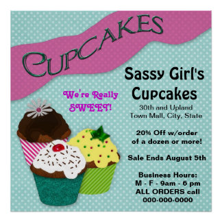CUPCAKE POSTER - GREAT ADVERTISEMENT-PERSONALIZE