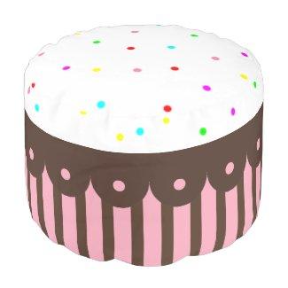 Cupcake Pouf Round Pouf