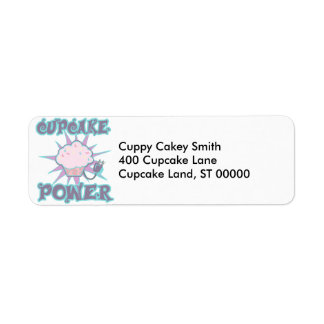 Cupcake Power Label