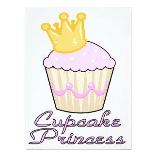 "cupcake princess 6.5"" x 8.75"" invitation card"