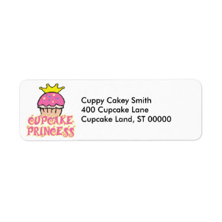 Cupcake Princess Label