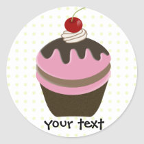 cupcake products classic round sticker