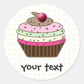 cupcake products round sticker