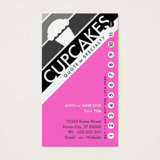 cupcake punchcard (buy 11 get 1 free) business card