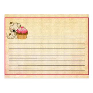 Cupcake Pup Recipe Card