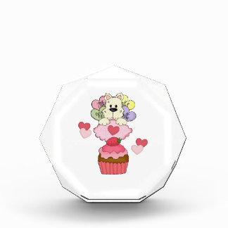 Cupcake Puppy Dog Valentines Acrylic Award