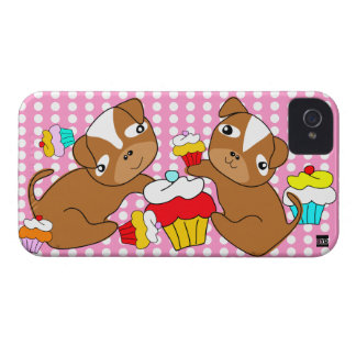 Cupcake Puppy iPhone 4 Case-Mate Case