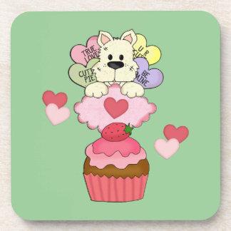 Cupcake Puppy Love Beverage Coaster