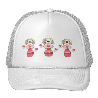 Cupcake Puppy Love Mesh Hat