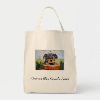 Cupcake Puppy Tote Bag