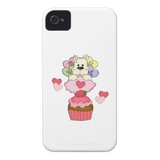 Cupcake Puppy Valentines iPhone 4 Cover
