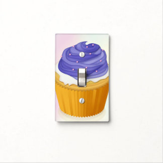 Cupcake & Purple Icing - Switch Plate Switch Plate Covers