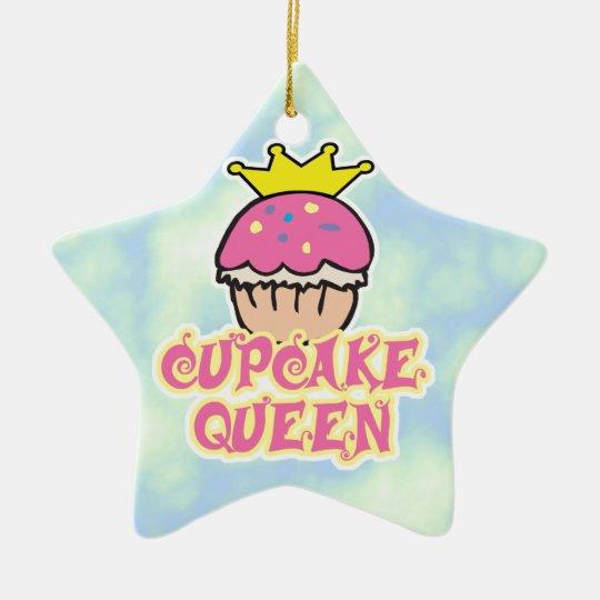 Cupcake Queen Ceramic Ornament