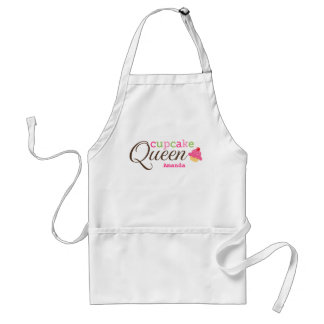 Cupcake queen fun cute personalized name adult apron