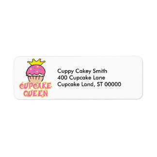 Cupcake Queen Label