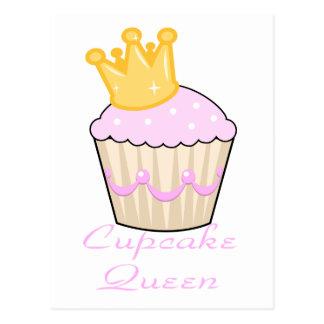 cupcake queen postcard