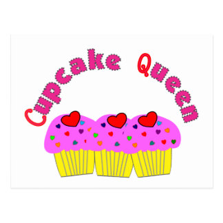 """""""Cupcake Queen""""  T-Shirts and Gifts Postcard"""