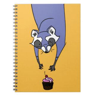 Cupcake Raccoon Spiral Notebooks