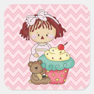 Cupcake Rag Doll Sweet Sticker