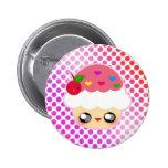 Cupcake Rainbow 2 Inch Round Button
