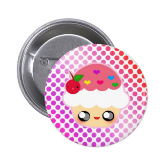 Cupcake Rainbow Pinback Button