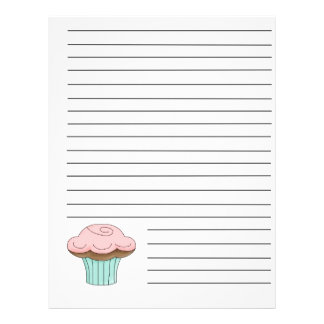 Cupcake Recipe Binder Pages Personalized Flyer