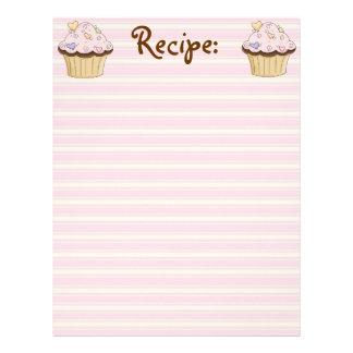 CupCake Recipe Paper Letterhead