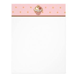 Cupcake Recipe Paper Letterhead Design