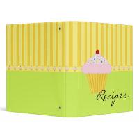 Cupcake Recipes Binder binder