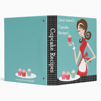 Cupcake Recipes 3 Ring Binder